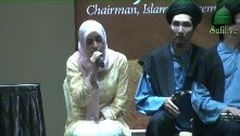 "Sajeda Kabbani Sings at the Opening of the SimplyIslam Event, ""Even Though We've Never Met..."""