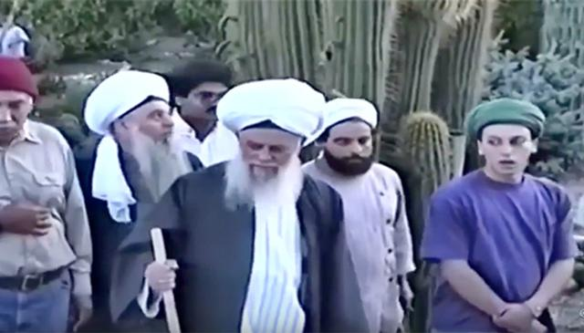 Mawlana Shaykh Nazim in New Mexico with Shaykh Hisham Kabbani and Shaykh Nour Kabbani